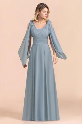 Sheer Brautjungfernkleider Lang Blau | Kleider Hochzeitsparty_4
