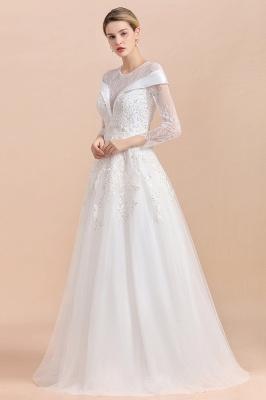 Luxus Brautkleider mit Ärmel   Hochzeitskleid A Linie_6
