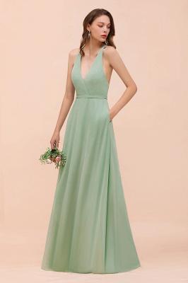 Brautjungfernkleider Mint Günstig | Schlichtes Abendkleid Lang_7