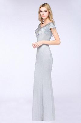 Silber Abendkleider Lang Günstig | Abiballkleider Online Kaufen_11