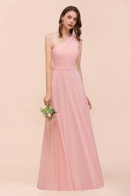 Brautjungfernkleider Lang Rosa   Chiffon Kleider Online_6