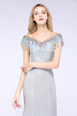 Silber Abendkleider Lang Günstig | Abiballkleider Online Kaufen_12