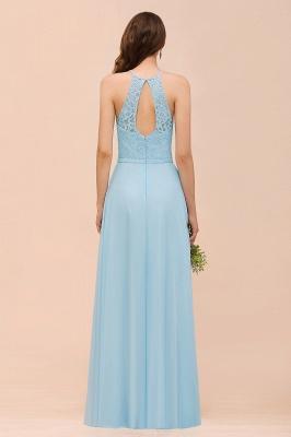 Brautjungfernkleider Lang Blau | Chiffon Kleider Abendmoden Günstig_3