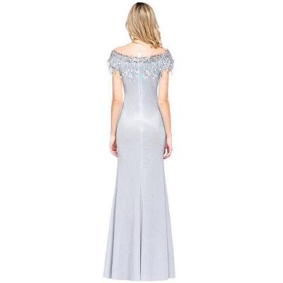 Silber Abendkleider Lang Günstig | Abiballkleider Online Kaufen_9