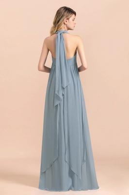 Sheer Brautjungfernkleider Lang Blau | Kleider Hochzeitsparty_3