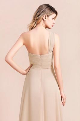 Elegante Chiffon Kleider | Champagne Brautjunfgernkleider Lang Günstig_9