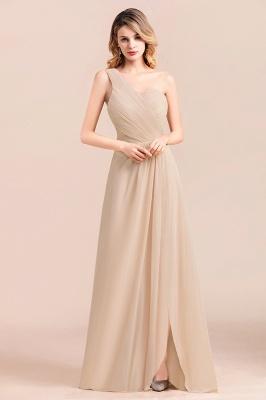 Elegante Chiffon Kleider | Champagne Brautjunfgernkleider Lang Günstig_6