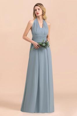 Sheer Brautjungfernkleider Lang Blau | Kleider Hochzeitsparty_6