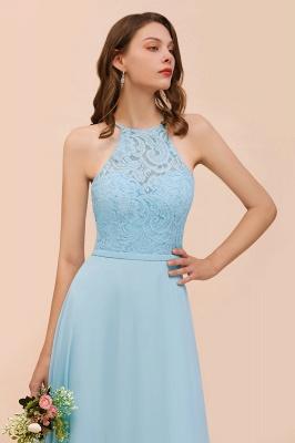 Brautjungfernkleider Lang Blau | Chiffon Kleider Abendmoden Günstig_8