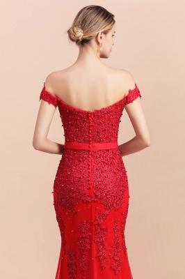 Rote Abendkleider Lang Günstig | Abiballkleider mit Spitze_9