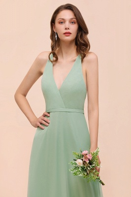 Brautjungfernkleider Mint Günstig | Schlichtes Abendkleid Lang_8