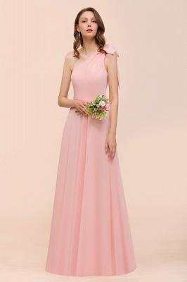 Brautjungfernkleider Lang Rosa   Chiffon Kleider Online_5