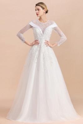 Luxus Brautkleider mit Ärmel   Hochzeitskleid A Linie_10