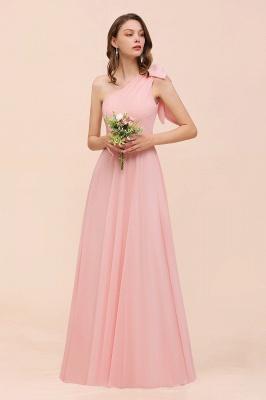 Brautjungfernkleider Lang Rosa   Chiffon Kleider Online_4