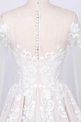 Designer Brautkleider A Linie   Hochzeitskleider Lange Spitze Ärmel_4