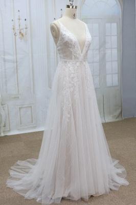 Designer Hochzeitskleider A Linie | Brautkleider mit Spitze_4