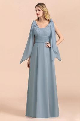 Sheer Brautjungfernkleider Lang Blau | Kleider Hochzeitsparty_9