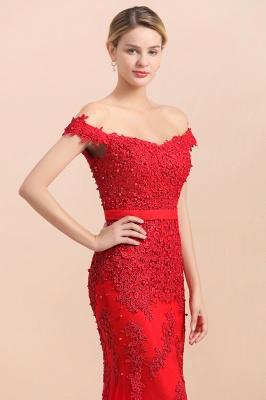 Rote Abendkleider Lang Günstig | Abiballkleider mit Spitze_8