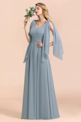 Sheer Brautjungfernkleider Lang Blau | Kleider Hochzeitsparty_1