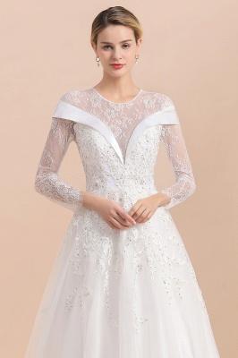 Luxus Brautkleider mit Ärmel   Hochzeitskleid A Linie_9
