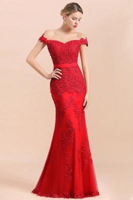 Rote Abendkleider Lang Günstig | Abiballkleider mit Spitze_4
