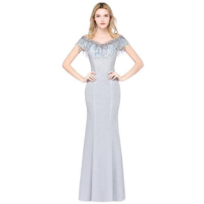 Silber Abendkleider Lang Günstig | Abiballkleider Online Kaufen_8