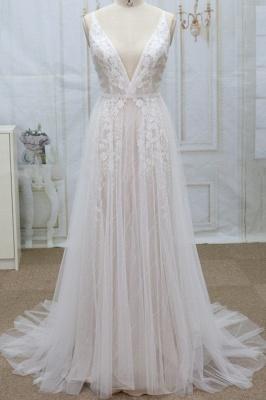 Designer Hochzeitskleider A Linie | Brautkleider mit Spitze_1
