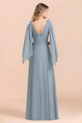 Sheer Brautjungfernkleider Lang Blau | Kleider Hochzeitsparty_10