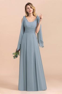 Sheer Brautjungfernkleider Lang Blau | Kleider Hochzeitsparty_5