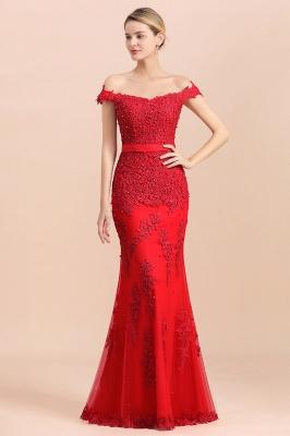 Rote Abendkleider Lang Günstig | Abiballkleider mit Spitze_5