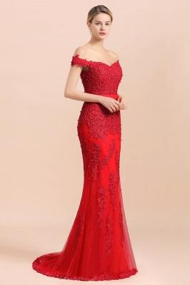 Rote Abendkleider Lang Günstig | Abiballkleider mit Spitze_6