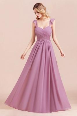 Brautjungfernkleider Lang Flieder | Schlichtes Abendkleid Günstig_8