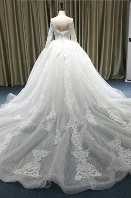 Wunderschöne Brautkleider A Linie | Hochzeitskleider mit Spitze Ärmel_3