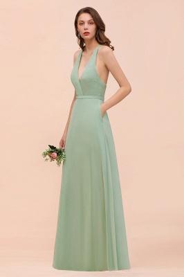 Brautjungfernkleider Mint Günstig | Schlichtes Abendkleid Lang_4