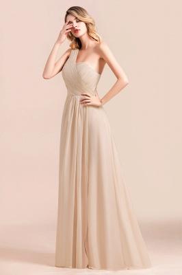 Elegante Chiffon Kleider | Champagne Brautjunfgernkleider Lang Günstig_7