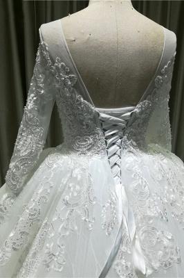 Wunderschöne Brautkleider A Linie | Hochzeitskleider mit Spitze Ärmel_5