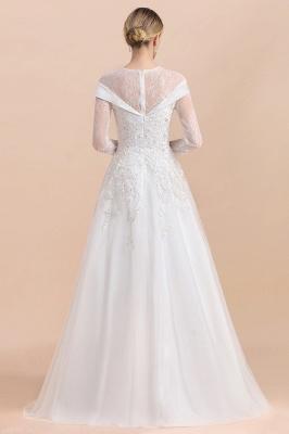 Luxus Brautkleider mit Ärmel   Hochzeitskleid A Linie_3