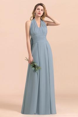 Sheer Brautjungfernkleider Lang Blau | Kleider Hochzeitsparty_8