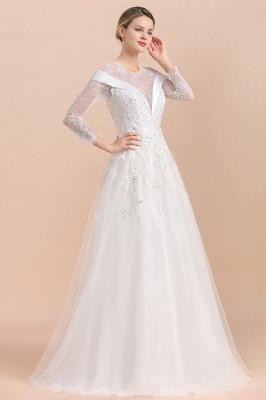 Luxus Brautkleider mit Ärmel   Hochzeitskleid A Linie_8