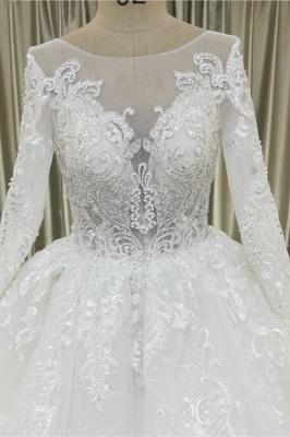 Wunderschöne Brautkleider A Linie | Hochzeitskleider mit Spitze Ärmel_4