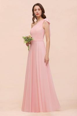 Brautjungfernkleider Lang Rosa   Chiffon Kleider Online_1