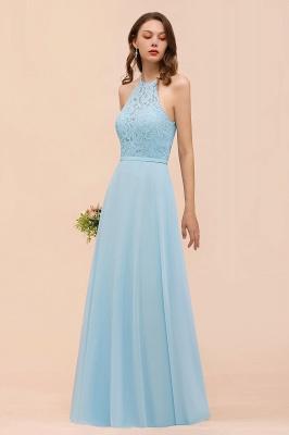 Brautjungfernkleider Lang Blau | Chiffon Kleider Abendmoden Günstig_5