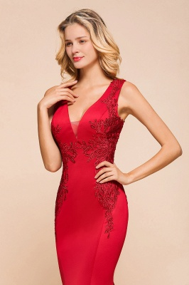 Abendkleid Rot Lang Günstig | Schlichte Abendmoden Abiballkleider_8