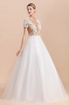 Sch'ne Brautkleider A Linie Mit Spitze | Hochzeitskleider für Schwangere_7