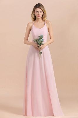 Schicke Brautjungfernkleider Lang Rosa | Chiffon Kleider_4