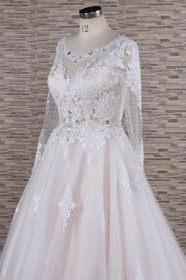 Designer Brautkleid A Linie | Hochzeitskleid mit Ärmel_6