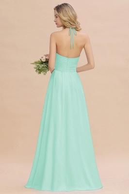Blaues Brautjungfernkleid Chiffon | Brautjungfernkleider Lang Günstig_2