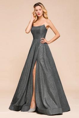 Schlichte Abendkleider Lang Glitzer | Festliches Kleid_6