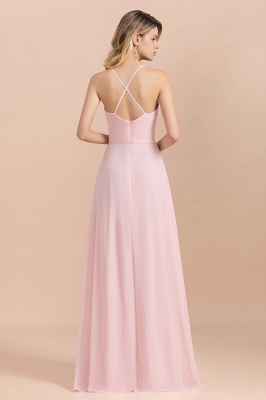 Schicke Brautjungfernkleider Lang Rosa | Chiffon Kleider_3
