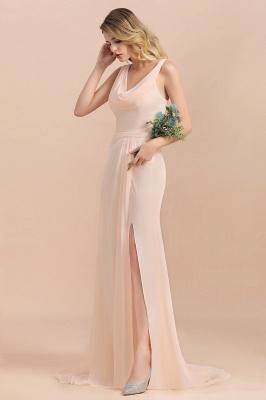 Champagne Brautjungfernkleider Günstig | Brautjungfernkleid Lang Chiffon_6